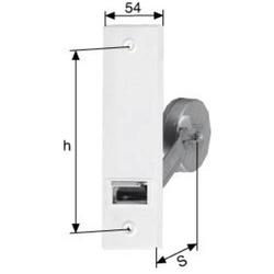 PARO Gurtwickler 110110 verz. weiße Deckplatte