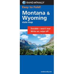 Rand McNally Easy to Fold: Montana Wyoming (Laminated Fold Map)