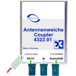 Antenne Bad Blankenburg Zubehör Antennenweiche AM/FM/DAB+ und GSM900/1800/TETRA weiß