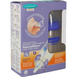 LANSINOH Weithalsflasche 240 ml mit Sauger M 2 St