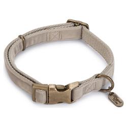 Designed by Lotte Hundehalsband Velura grau, Verstellmöglichkeit: 48 - 70 cm