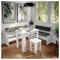 Vicco Sitzgruppe Eckbankgruppe Roman Weiß 180x150cm Esszimmergruppe Eckbank Sitzgruppe