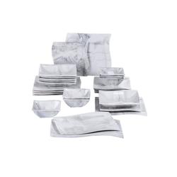 MALACASA Kombiservice FLORA (26-tlg), Porzellan, 26 tlg. Marmor Porzellan Geschirrset