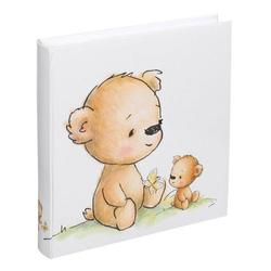 IDEAL TREND Album Teddybär Fotoalbum 30x30 cm 100 weiße Seiten Baby Foto Album Fotobuch
