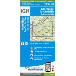 la Roche-Canillac Marcillac-la-Croisille 1:25 000