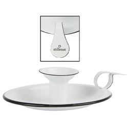 """Ib Laursen Kerzenhalter, Tolle im Vintage-Stil romantische Kammerleuchte bzw. Kerzenhalter, aus echter Emaille. Modell """" STILLENAT """". 17 x 15 x 4 cm, Hoher Neidfaktor."""