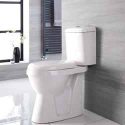 Erhöhtes Stand WC, H 47cm Abgang waagrecht - Doc-M behindertengerecht, von Hudson Reed