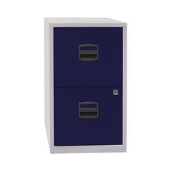 Bisley Home Hängeregisterschrank PFA aus Stahl, ohne Sockel, A4 blau 41.3 cm x 67.2 cm x 40 cm