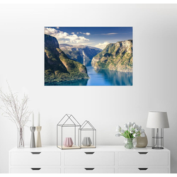 Posterlounge Wandbild, Norwegen - Aurlandsfjord 130 cm x 90 cm