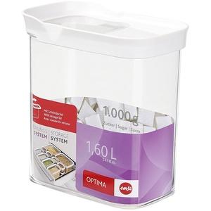 EMSA OPTIMA 4 er Set Schüttdose Frischhaltedose Vorratsdose, rechteckig, 1,60 L