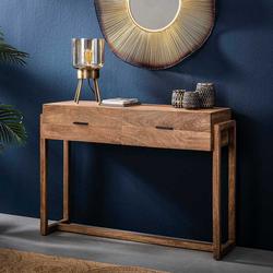 Flur Tisch aus Mangobaum Massivholz 110 cm breit