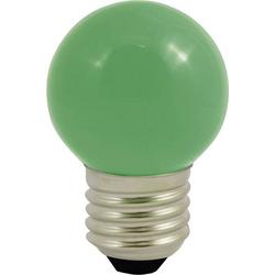 LightMe LED E27 Tropfenform 0.5W Grün (Ø x L) 45mm x 70mm 1St.