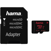 Hama microSDXC 64GB UHS-I U3 + SD-Adapter/Foto