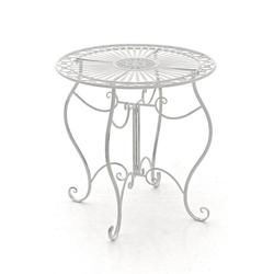 CLP Gartentisch Indra, aus Eisen weiß
