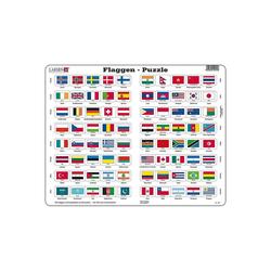 Larsen Puzzle Rahmen-Puzzle, 80 Teile, 36x28 cm, Flaggen, Puzzleteile