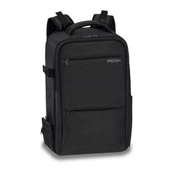 PEDEA Kamerarucksack NOBLE Fotorucksack mit Regenschutz, Tragegurt und Zubehörfächern, schwarz