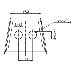 SCI PR18-A2 Montageplatte 2-fach