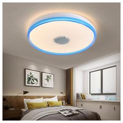 Natsen Deckenleuchte, Bluetooth LED Deckenlampe mit Lautsprecher dimmbar (24W Blau Weiß +Fernbedienung) Ø 40 cm x 7 cm