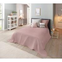 Home Affaire Tagesdecke Melli, auch als Tischdecke und Sofaüberwurf einsetzbar rosa 140 cm x 210 cm