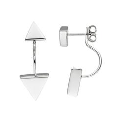 JOBO Paar Ohrhänger Dreieck, dreieckig 925 Silber