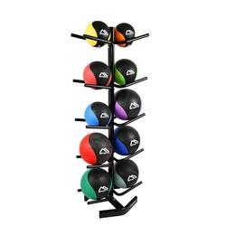 MSports® Medizinball MSPORTS Medizinball Rack I für 10 Gymnastikbälle I Ablage Medizinballständer