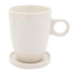 PICKWICK Tasse Teetasse mit Untertasse, Tee Tip, weiß, 230 ml