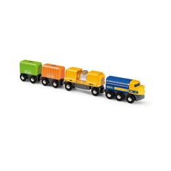 BRIO® Spielzeug-Eisenbahn Güterzug mit drei Waggons