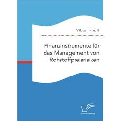 Finanzinstrumente für das Management von Rohstoffpreisrisiken als Buch von Viktor Knoll