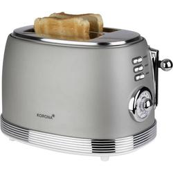 Korona Retro Toaster Toastfunktion, mit Brötchenaufsatz Grau