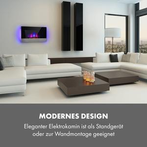 Basel Baseline Elektrokamin 2000W 2 Stufen Thermostat Glas Edelstahl