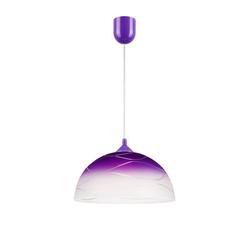 Licht-Erlebnisse Pendelleuchte ADANIA Pendelleuchte Küche Lila rund retro Hängelampe Esstisch Lampe