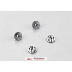 Killerbody Aluminium Radmuttern Grau 4 Stk. / KB48365GY