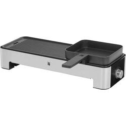 WMF 0415170011 Elektro Tischgrill mit manueller Temperatureinstellung Schwarz, Silber