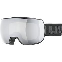 Uvex Skibrille Skibrille compact LM, black mat dl/mirror silver