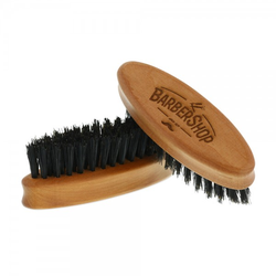 Bartbürste aus Birnbaumholz oval (Gravurmaß 40x15mm)