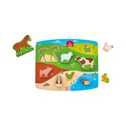 Hape Steckpuzzle Steckpuzzle Bauernhoftiere, Puzzleteile