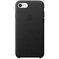 Apple iPhone 8 / 7 Leder Case schwarz