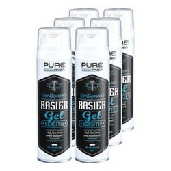 Pure & Basic Men Rasiergel Sensitiv 200 ml, 6er Pack