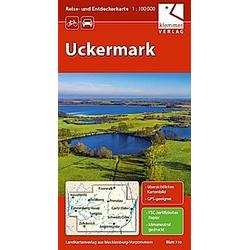Reise- und Entdeckerkarte Uckermark 1:100.000 - Buch