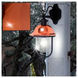 etc-shop LED Laterne, Außen Wand Lampe Kupfer Glas ALU Strahler Balkon Garten Laterne im Set inkl. LED Leuchtmittel