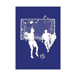 Rayher Siebdruckschablone Fussball blau