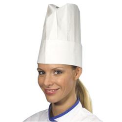 Papstar Provence Kochmützen, weiß, aus Krepp-Papier, Höhe: 25 cm, 1 Packung = 10 Stück