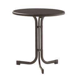 SIEGER Gartentisch, grau Stahlrohrgestell, Dekorplatte