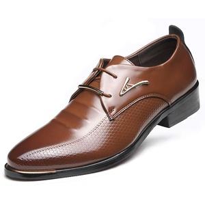 AARDIMI Herrenschuhe Herren Uniform Berufsschuhe Elegant Businessschuhe Lederschuhe Hochzeit Schuhe (48, Braun)