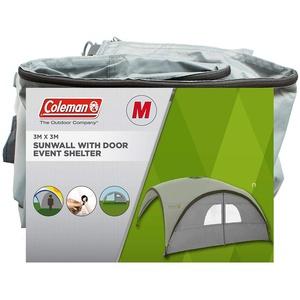 Coleman für Seitenwand Event Shelter M und Event Shelter Pro M 3 x 3 m, Pavillon Seitenteil mit Tür und Fenster, Sonnenschutz, wasserabweisend