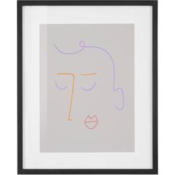 COUCH♥ Bild Gesichtet, Gesicht (1 Stück) beige 40 cm x 50 cm