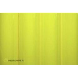 Oracover 21-031-010 Bügelfolie (L x B) 10m x 60cm Gelb (fluoreszierend)