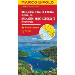 MARCO POLO Karte HR Dalmatien Kroatische Küste 1: 200 000