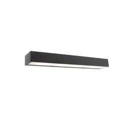 Design längliche Wandleuchte schwarz 60 cm - Houx