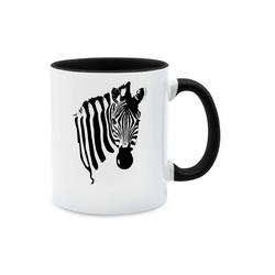 Shirtracer Tasse Zebra - Wildnis - Tasse zweifarbig - Tassen, tasse mit zebra
